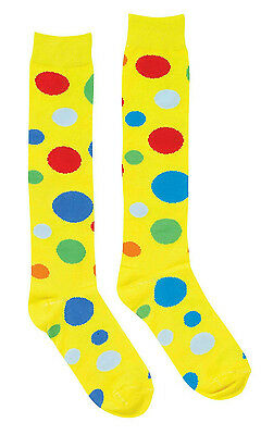 Forum Novelties Adult Polka Dot Clown Socks Costume Accessory