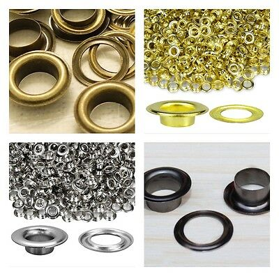 8mm Eyelets Grommets with Washers for Banners Vinyl Leather Craft 100pcs UK