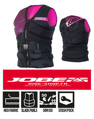 Gilet néoprène Progress Unify Vest Women Jobe 2016 -Norme CE-Jetski-wake-SUP-PWC