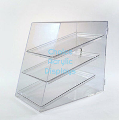 Clear Acrylic Donut Display Case | Pastry Cabinet w/ 3 Shelves | Free Shipping