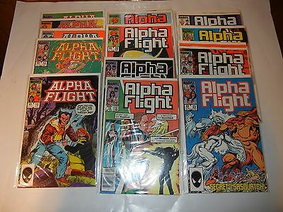 Lot Of (17) Marvel Alpha Flight Volume 1 Comic Books #13-29 Run 1984-1985