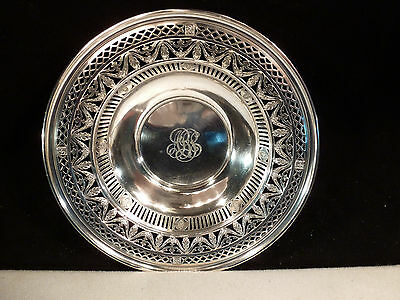 Antique Black Starr Frost Pierced Sterling Silver Bowl 1876 New York Exclusive