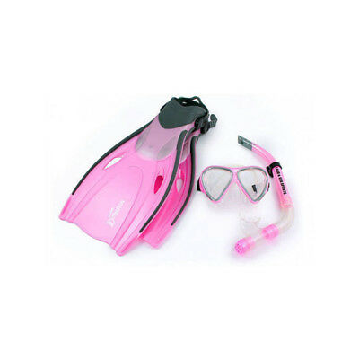 Land & Sea Dolphin Snorkelling Set Pink - Available In Junior, Child Or Adult