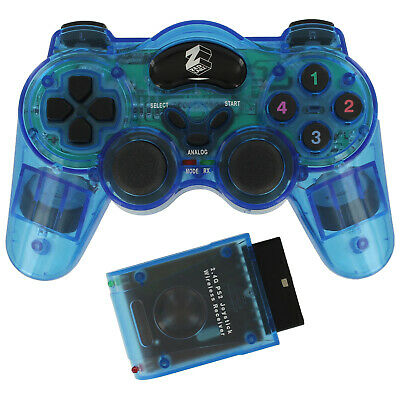 ZedLabz wireless controller for PS2 Playstation 2 double shock RF gamepad - Blue