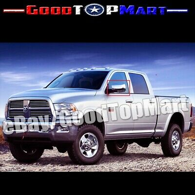 FOR DODGE RAM 1500//2500//3500 09-12 CHROME MIRROR DOOR HANDLE GAS TANK COVER 2DRS