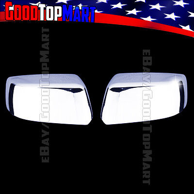 For Chevy SUBURBAN LS LT LTZ 2015 2016 Chrome Top Half Mirror Covers PAIR 2PC