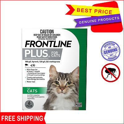 Frontline Plus Flea treatment for Cats & kittens 6 Pipettes by Merial