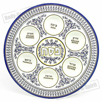 Jewish Plate PASSOVER SEDER Dish traditional Melamine Hebrew Israel Judaica Gift