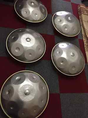NEW Harmonic Handpan 9-notes D-Minor 1st Generation Steel Pan handrum hung Art