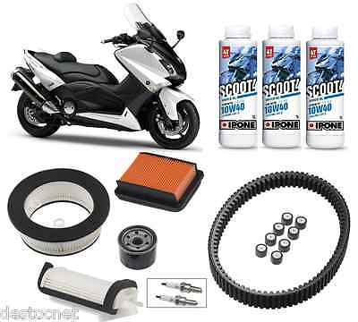 Kit Entretien Complet Courroie Filtre Huile Ipone Scoot4 10w40 YAMAHA TMAX 530