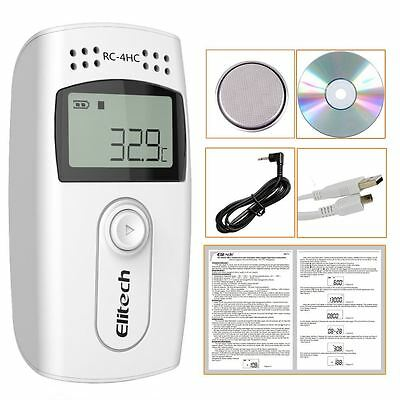 Elitech(UK) RC-4HC16000points  Mini Temperature and Humidity Data Logger