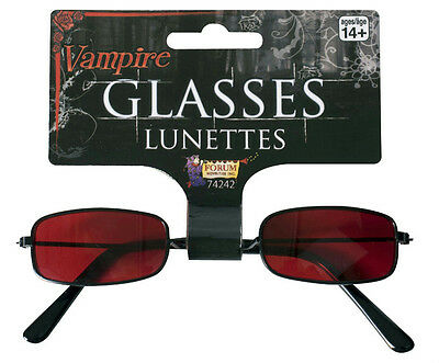 Red Vampire Costume Glasses