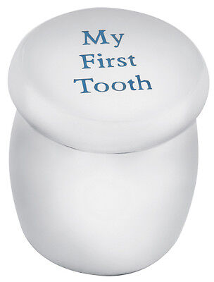 'my First Tooth' Fairy Box In Blue Enamel Sterling Silver New From Ari D Norman