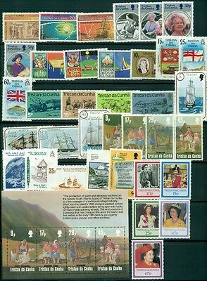 Tristan Da Cunha Collection, All Nh Issues Inc. Souvenir Sheets From The 1980's
