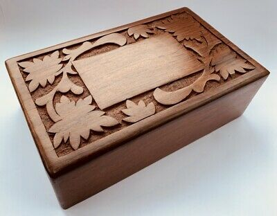 Memorial Keepsake Remembrance Sheesham Wood Box Pet Cremation Ash Casket Urn
