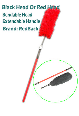 Extendable Microfiber Cleaning Duster With Tilting Head Up To 1.7m New REDBACK