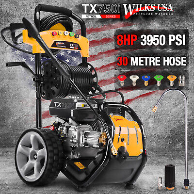 Petrol Pressure Washer - 3950PSI / 272BAR - Power Jet Cleaner - WILKS USA TX750i