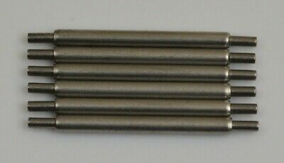 6x Set spring bars fat for ROLEX 20mm steel pin bar watch leather strap 2mm