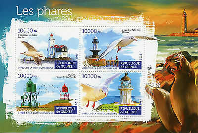 Guinea 2015 MNH Lighthouses 4v M/S Paard Marken Stavoren Lighthouse Cape Reinga