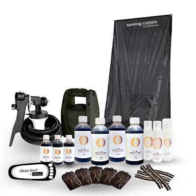 Hvlp Ts20 Pro Spray Tanning Kit,unit,curtain,tan,solution &more!should Be £299!!
