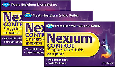 Nexium Control Tablets 20mg 7 Pack X3 (TRIPLE PACK) 24 Hours, Heartburn, Acid