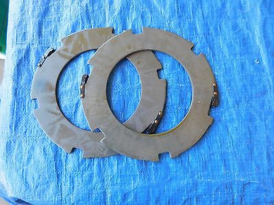 2 New Steel Clutch Plates Harley Davidson 45 Flat Head Replaces # 37977-41. Wl,g