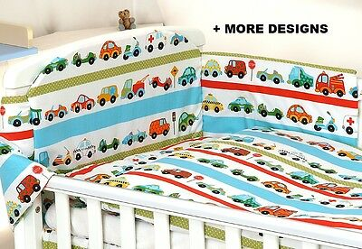 CARS Baby GIRL BOY 3,4 PC SET COT - COT BED NURSER BABY SET- BUMPER, COVERS