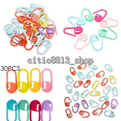 30x Newest Needle Knitting Craft Tool Crochet Stitch Marker Clip Holder Locking