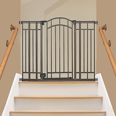 Extra Tall Walk Thru Safety Gate Pet Dog Toddler Baby Child Stairs Through Wide
