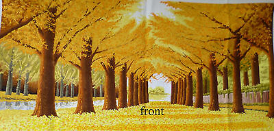Fortune  gold trees  (167CM*94CM ) 100% pure hand made cross stitch