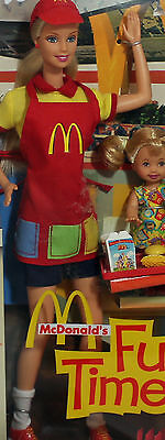 McDonald's Fun Time! Barbie and Kelly 2001, Mint NO BOX - 29395