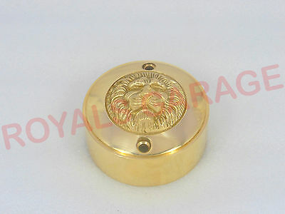 Royal Enfield Bullet Brass Contact Brake Point Delco Distributor Cover Lion Face