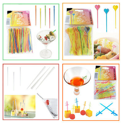 Party Picks BBQ Cocktail Stirrers Buffet Decoration Sticks Food Pickers Hawaiian