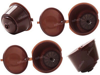 2 x Refillable Reusable Compatible Coffee Capsules Pods for DOLCE GUSTO Machines