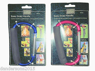 Carabiner Handle - Easy Grab, Large Carabiner Clip, Cushioned Grip