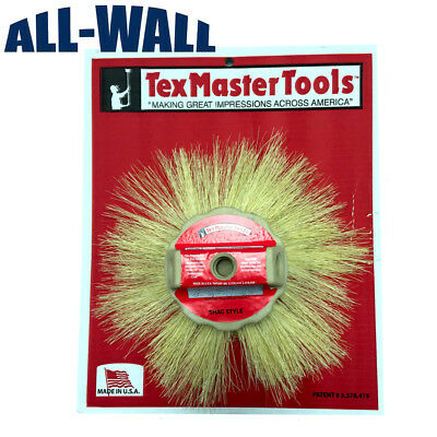"""TexMaster 12"""" Tampico Shag Style Stipple Brush for Drywall Texture 8804 *NEW*"""