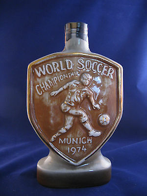 Jim Beam Decanter 1974 Munich World Soccer Pied Piper Of Hameln Mint Condition