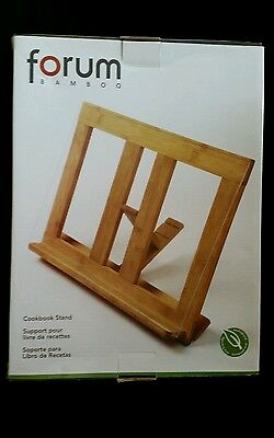 New Book Recipe Holder Cookbook Cooking Stand Wood bamboo Tabletop Easel Crafts