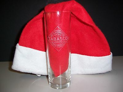 McIlhenny Co. Tabasco Tall  Bloody Mary Etched Cocktail Glass