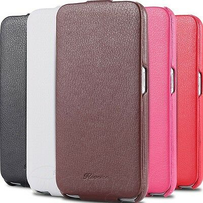 Samsung Galaxy S6+S6 EDGE Phone Genuine Real Leather Flip Case Slim Cover New