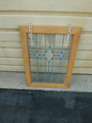 50689 Stain Glass Leaded Window in Wood Picture Frame