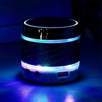 Mini LED Bluetooth Speaker Wireless BASS Portable For Samsung Tablet PC Blue