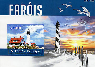Sao Tome & Principe 2015 MNH Lighthouses 1v S/S Portland Lighthouse USA