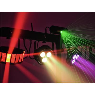 Eurolite LED Party Bar 2x Derbys + 2x RGB Spots + 4x Strobes + Laser + Case