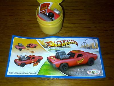 Kinder  surprise voitures  Hot Wheels TR130  +  BPZ  rouge
