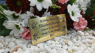Personalised Engraved Bench Memorial Plaque Mum/Dad/Nan/ 10X5Cm Gold (A21)