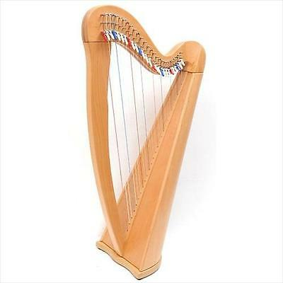 EMS Heritage 27 String Harp With Semitone Levers In Natural Beech Finish **NEW**