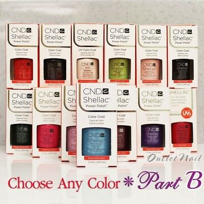 CND SHELLAC UV Gel Nail Polish Base Top Coat 7.3ml 0.25oz Pick ANY Color PART B