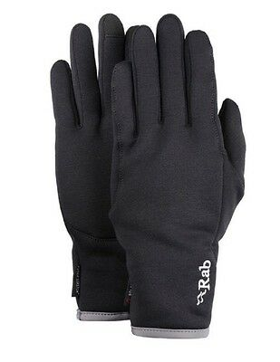 Rab Power Stretch Pro Contact Gloves, Black (touch screen compatible)