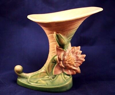 Roseville Pottery Beautiful Cornucorpia Water Lily Honey/Green/Mauve RARE